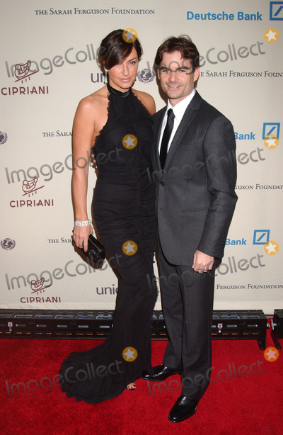 NASCAR DRIVERS Photo - Model Ingrid Vandebosch and Nascar driver Jeff Gordon arriving at the 2007 Cipriani Wall Street concert series featuring Lenny Kravitz at Cipriani Wall Street