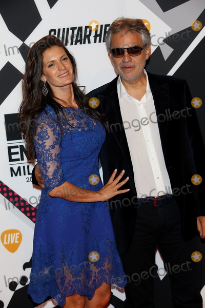 Andrea Bocelli Photo - October 25 2015 MilanVeronica Berti and singer Andrea Bocelli attending the MTV EMAs 2015 at Mediolanum Forum on October 25 2015 in Milan Italy By Line FamousACE PicturesACE Pictures Inctel 646 769 0430