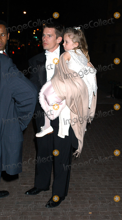 Alexandra Shiva Photo - Celebrities in town for the wedding of Alexandra Shiva and Jonathan Sherman Pictured Ethan Hawke and daughter New York May 17 2003