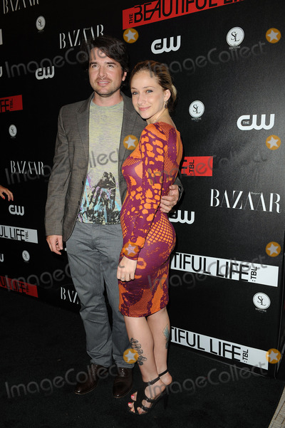 NAAMA NATIV Photo - Matthew Settle and wife Naama Nativ at the CW Network party for the new series The Beautiful Life TBL at the Simyone Lounge on September 12 2009 in New York City