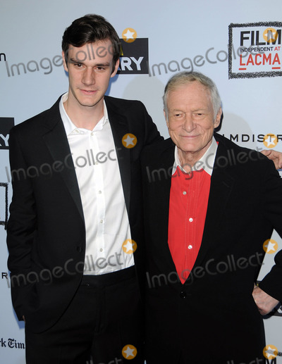 Hugh Heffner Photo - Hugh Heffner (R) arriving at The Rum Diary premiere at the Los Angeles County Museum of Art on October 13 2011 in Los Angeles California