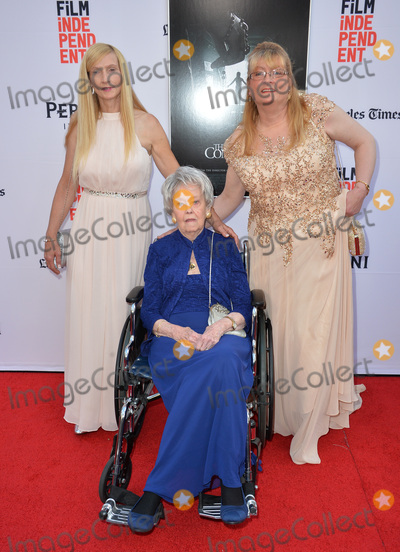 Lorraine Warren Photo - LOS ANGELES CA June 7 2016 Demonologist Lorraine Warren with Margaret Nadeen  Janet Winter at the world premiere of The Conjuring 2 at the TCL Chinese Theatre HollywoodPicture Paul Smith  Featureflash