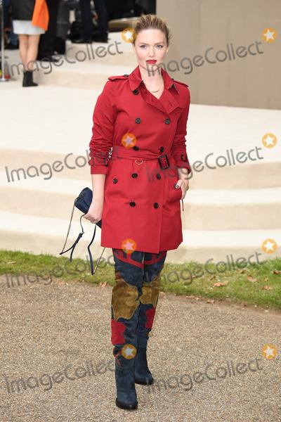 Holiday Grainger Photo - Holiday Grainger arriving for the Burberry Prorsum show at London Fashion Week Spring Summer 2016 September 21 2015  London UKPicture Steve Vas  Featureflash