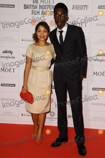 Nathan Stewart-Jarrett Photo - Antonia Thomas and Nathan Stewart Jarrett arriving for the Moet British Independent Film Awards 2013 at Old Billingsgate London 08122013 Picture by Steve Vas  Featureflash