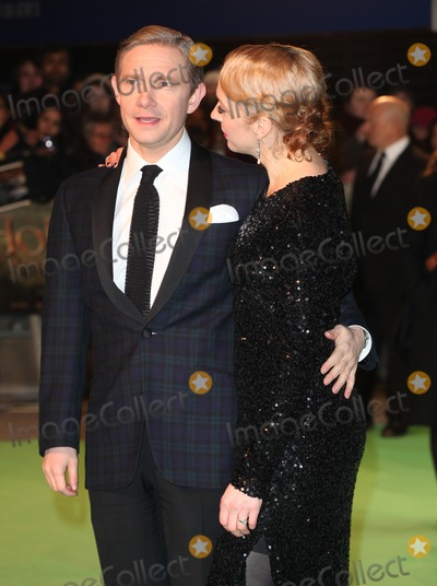 Amanda Abbington Photo - Martin Freeman and Amanda Abbington arriving for The hobbit Premiere Odeon Leicester Square London 12122012 Picture by Alexandra Glen  Featureflash