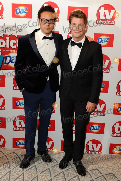 Andy Jordan Photo - Andy Jordan and Stevie Johnson arriving at The TV Choice Awards 2013 held at the Dorchester London 09092013 Picture by Steve Vas  Featureflash