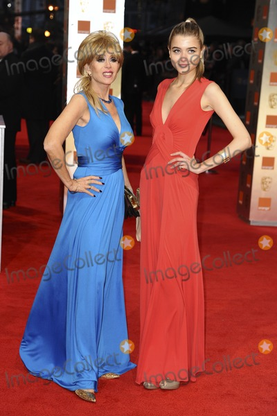 Sally Farmiloe Photo - Sally Farmiloe and daughter arriving for the BAFTA Film Awards 2012 at the Royal Opera House Covent Garden London 12022012  Picture by Steve Vas  Featureflash