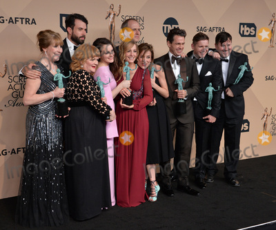 Allen Leech Photo - Downton Abbey stars Lesley Nicol Sophie McShera Joanne Froggatt Raquel Cassidy Tom Cullen Kevin Doyle Julian Ovenden Allen Leech  Jeremy Swift at the 22nd Annual Screen Actors Guild Awards at the Shrine Auditorium January 30 2016  Los Angeles CAPicture Paul Smith  Featureflash