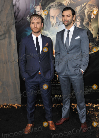 Aidan Turner Photo - Dean OGorman (left)  Aidan Turner at the Los Angeles premiere of their movie The Hobbit The Desolation of Smaug at the Dolby Theatre HollywoodDecember 2 2013  Los Angeles CAPicture Paul Smith  Featureflash