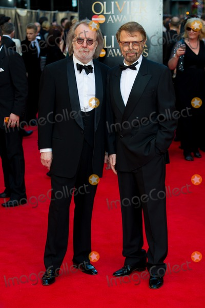 ABBA Photo - Benny and Bjorn  (Abba) arrives for the Laurence Olivier Awards 2014 at the Royal Opera House Covent Garden London 13042014 Picture by Dave Norton  Featureflash