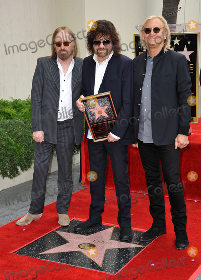 Joe Walsh Photo - Rock artist Jeff Lynne (centre) with Tom Petty (left)  Joe Walsh in Hollywood where Lynne was honored with the 2548th star on the Hollywood Walk of FameApril 23 2015  Los Angeles CAPicture Paul Smith  Featureflash