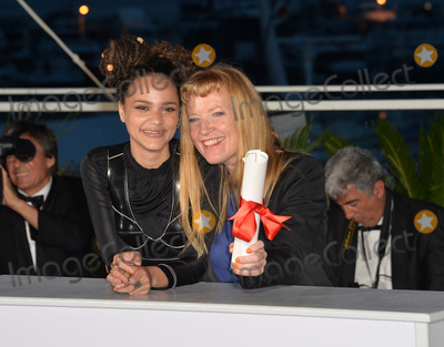 Andrea Arnold Photo - Director Andrea Arnold winner of The Jury Prize for the film American Honey  actress Sasha Lane at the winners photocall at the 69th Festival de CannesMay 22 2016  Cannes FrancePicture Paul Smith  Featureflash