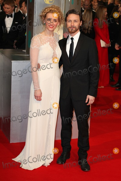 Anne Marie Photo - Anne Marie Duff and James McAvoy arriving for the 67th British Academy Film Awards - BAFTAS - at the Royal Opera House London 08022015 Picture by Alexandra Glen  Featureflash