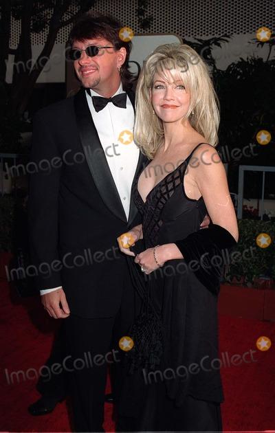Heather Locklear Photo - 19JAN97  Actress HEATHER LOCKLEAR  husband RITCHIESAMBORA at the Golden Globe Awards      Please Credit Pix PAUL SMITH