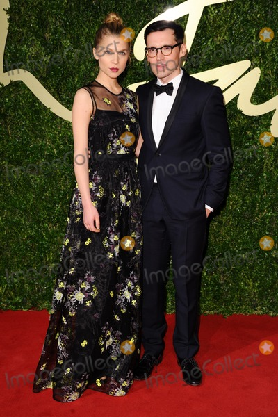 Clemence Posey Photo - Clemence Posey and designer Erdem Moralioglu arrives for the British Fashion Awards 2013 at the Colliseum StMartins Lane London 02122013 Picture by Steve Vas  Featureflash