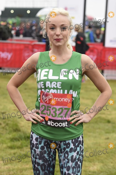 Helen George Photo - Helen George at the start of the 2015 London Marathon Blackheath Common Greenwich London 26042015 Picture by Steve Vas  Featureflash
