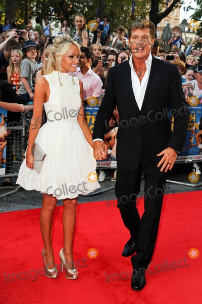 Hayley Roberts Photo - David Hasselhoff and Hayley Roberts arriving for the premiere of Keith Lemon The Film at the Vue Cinema Leicester Square London 21082012 Picture by Steve Vas  Featureflash