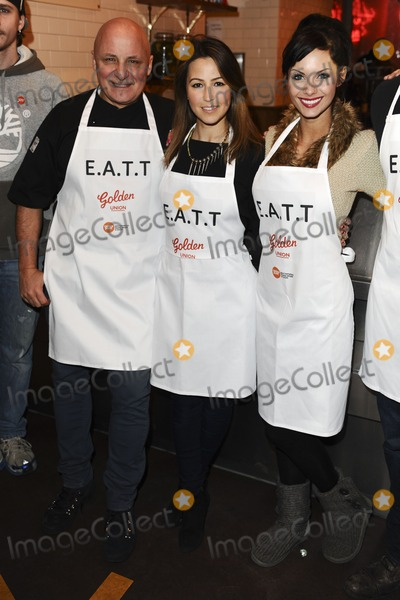 Aldo Zilli Photo - Rachel Stevens Aldo Zilli and Jessica Jane Clement during the  EATT (Eat at the Table) photocall The Golden Union Chip Shop  London 08022012 Picture by Steve Vas  Featureflash