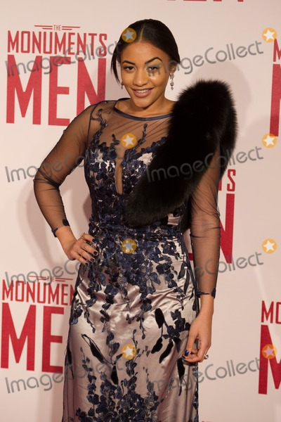 Amal Fashanu Photo - Amal Fashanu arriving for The Monuments Of Men Premiere at Odeon Leicester Square London 11022014 Picture by Dave Norton  Featureflash