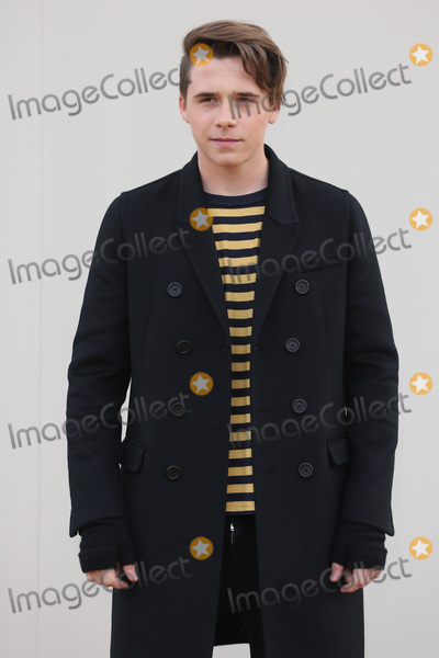 Brooklyn Beckham Photo - Brooklyn Beckham arriving at the Burberry Prorsum show during The London Collections Menswear AW 2016 at Kensington Gardens London January 11 2016  London UKPicture James Smith  Featureflash