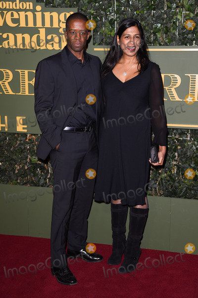 Adrian Lester Photo - Adrian Lester  Lolita Chakrabarti at the London Evening Standard Theatre Awards 2015 at the Old Vic Theatre LondonNovember 22 2015  London UKPicture Steve Vas  Featureflash