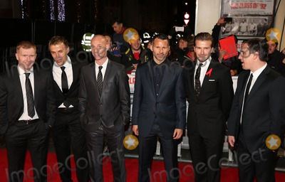 Nicky Butt Photo - Paul Scholes Phil Neville Nicky Butt Ryan Giggs David Beckham Gary Neville at The Class of 92 premiere held at the Odeon West End cinema London 01122013 Picture by Henry Harris  Featureflash