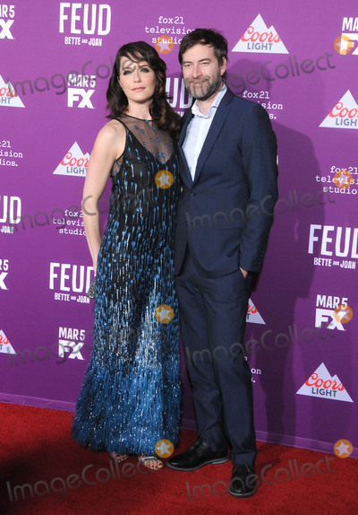 Graumans Chinese Theatre Photo - HOLLYWOOD CA - MARCH 1  (L-R) Actress Katie Aselton and actor Mark Duplass attend Red Carpet Event for FXs Feud Bette And Joan at Graumans Chinese theatre on March 1 2017 in Hollywood California  (Photo by Barry KingImageCollectcom)