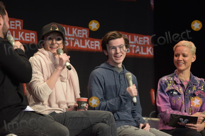 Chandler Riggs Photo - MANNHEIM GERMANY - MARCH 18 (L to R) Actors Sarah Wayne Callies Chandler Riggs (The Walking Dead) panel at Walker Stalker Germany convention (Photo by Markus Wissmann)