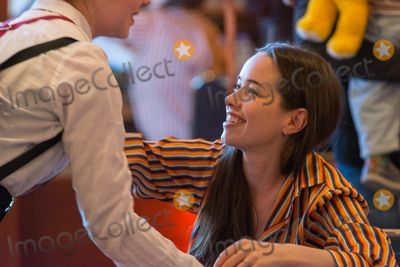 Anna Popplewell Photo - BONN GERMANY - MARCH 24 Actress Anna Popplewell (Narnia Reign) hugging a fan at MagicCon a three-day (March 23-25 2018) fantasy  mystery fan convention