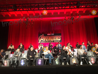 Anthony Russo Photo - Winston Duke Dave Bautista Don Cheadle Mark Ruffalo Elizabeth Olsen Tom Hiddleston Sebastian Stan Anthony Mackie Pom Klementieff Chris Pratt Scarlett Johansson Kevin Feige Robert Downey Jr Zoe Saldana Chris Hemsworth Letitia Wright Danai Gurira Tom Holland Anthony Russo Josh Brolin Joe Russo Chadwick Boseman Paul Bettany 04222018 Avengers Infinity War Press Conference held at The Montage Beverly Hills Luxury Hotel in Beverly Hills CA Photo by Izumi Hasegawa  HollywoodNewsWireco