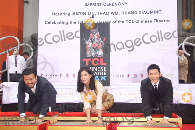 Huang Xiaoming Photo - Justin Lin Zhao Wei Huang Xiaoming 06032015 88th Birthday Commemoration Of TCL Chinese Theater IMAX held at the TCL Chinese Theatre in Hollywood CA Photo by Kazuki Hirata  HollywoodNewsWirenet
