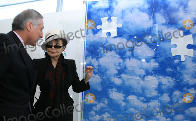 Heraldo Munoz Photo - Chiles UN Ambassador Heraldo Munoz and artist Yoko Ono (R) attend the unveiling of her mural to commemorate World Autism Awareness Day at the United Nations on April 2nd 2009 in New York City