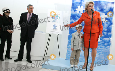 Heraldo Munoz Photo - (L-R) Artist Yoko Ono Chiles UN Ambassador Heraldo Munoz Mattias Hildebrand and Suzanne Wright pictured during the unveiling of her mural to commemorate World Autism Awareness Day at the United Nations on April 2nd 2009 in New York City