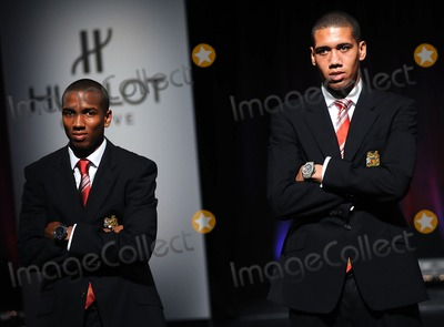 Ashley Young Photo - July 25 2011  Ashley Young and Chris Smalling (R) walk down the runway during the Art of Fusion fashion show at Cipriani Wall Street in New York City