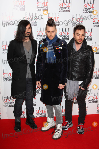30 Seconds to Mars Photo - London UK Tomo Milicevic Jared Leto and Shannon Leto of 30 Seconds To Mars at the Elle Style Awards 2010 held at the Grand Connaught Rooms in Great Queen Street 22nd February 2010 Keith MayhewLandmark Media
