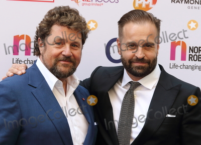 Alfie Boe Photo - London UK Michael Ball and Alfie Boe at the Nordoff Robbins Silver Clef Awards at the Grosvenor House Hotel Park Lane London 6th July 2018 Ref LMK73-S1530-070718Keith MayhewLandmark Media WWWLMKMEDIACOM
