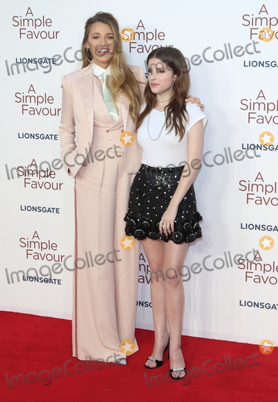Anna Kendrick Photo - London UKBlake Lively and Anna Kendrick  at the UK Premiere of A Simple Favor at the BFI Southbank on the 17th September 2018 in London England UK  Ref LMK73-J2621-180918Keith MayhewLandmark MediaWWWLMKMEDIACOM