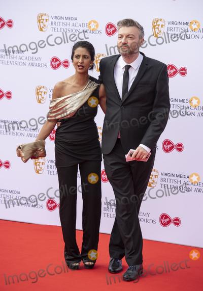The Virgins Photo - London UK Konnie Huq and Charlie Brooker  at the Virgin Media British Academy Television Awards at The Royal Festival Hall 12th May 2019 Ref LMK386 -S2416-150519Gary MitchellLandmark Media   WWWLMKMEDIACOM