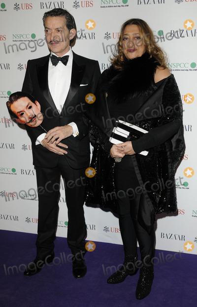 Zaha Hadid Photo - London UK Zaha Hadid (R) and Guest at the Surrealist Ball held at the Banqueting House 17th March 2011Can NguyenLandmark Media