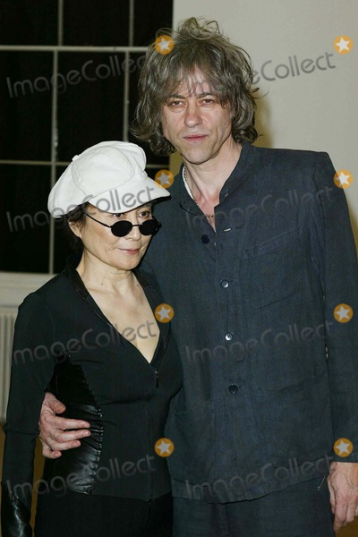 Beck Photo - London Yoko Ono and Bob Geldof dancing before  presenting the winners  of Becks Futures 2004 at the ICA Named after the beer and not David Beckham   27th April 2004Ref  PICTURES BY JENNY ROBERTSLANDMARK MEDIA LMK