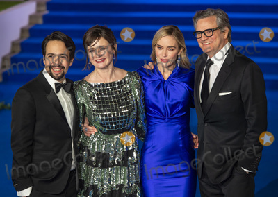 Colin Firth Photo - London UK  Lin-Manuel Miranda Emily Mortimer Emily Blunt and Colin Firth at the European Premiere of Mary Poppins Returns at Royal Albert Hall on December 12 2018 in London EnglandRef LMK386-J4041-131218Gary MitchellLandmark MediaWWWLMKMEDIACOM