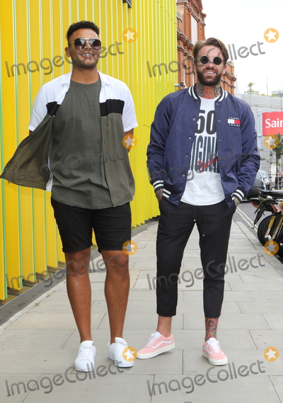 Aaron Chalmers Photo - LondonUK Nathan Henry and Aaron Chalmers  at The Launch of the new series of Geordie Shore at MTV Studios followed by Chloe Ferry dressing up as a chicken to celebrate world record for eating chicken nuggets in Camden London UK on the 29th August 2017  RefLMK73-S626-300817Keith MayhewLandmark MediaWWWLMKMEDIACOM