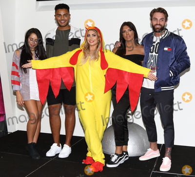 Abbie Holborn Photo - LondonUK Abbie Holborn Chloe Ferry and Marnie Simpson Nathan Henry and Aaron Chalmers    at The Launch of the new series of Geordie Shore at MTV Studios followed by Chloe Ferry dressing up as a chicken to celebrate world record for eating chicken nuggets in Camden London UK on the 29th August 2017  RefLMK73-S626-300817Keith MayhewLandmark MediaWWWLMKMEDIACOM