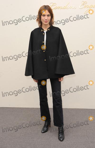 Alexa Chung Photo - London UK Alexa Chung at the Burberry Prorsum fashion show- AutumnWinter 2016 during London Fashion Week 2016 London Britain 22nd Feb 2016Ref LMK200-60019-220216Landmark MediaWWWLMKMEDIACOM