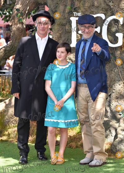 Ruby Barnhill Photo - London UK Mark Rylance Ruby Barnhill and Stephen Spielberg  at The BFG Premiere held at Leicester Square Gardens Leicester Square London on Sunday 17 July 2016Ref LMK392 -60374-180716Vivienne VincentLandmark Media WWWLMKMEDIACOM
