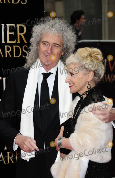 Anita Dobson Photo - London UK Brian May and Anita Dobson at Olivier Awards 2013 at The Royal Opera House Covent Garden 28th April 2013SydLandmark Media
