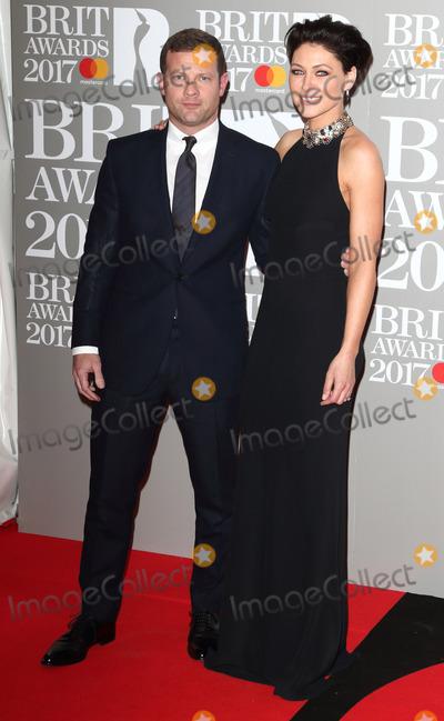 Dermot OLeary Photo - London UK Dermot OLeary and Emma Willis at The BRIT Awards 2017 at The O2 Peninsula Square London on February 22nd 2017Ref LMK73-63022-230217Keith MayhewLandmark MediaWWWLMKMEDIACOM