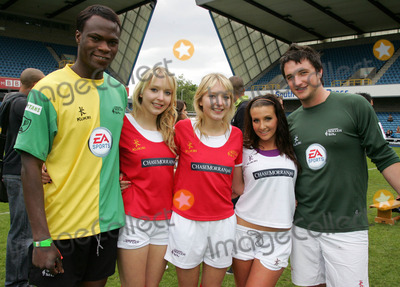 Amy Alexandra Photo - London UK L-R Brian Belo Samantha and Amanda Marchant Amy Alexandra  and Liam Gallagher  at the Music Industry Soccer Six  held at Millwall FCs New Den ground in London 18th May  2008Keith MayhewLandmark Media