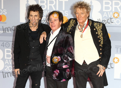 Rod Stewart Photo - LondonUK   Ronnie Wood Sir Rod Stewart and Kenney Jones     at 40th Brit Awards Red Carpet arrivals The O2 Arena London 19th February 2020 RefLMK73-S2890-190220Keith MayhewLandmark MediaWWWLMKMEDIACOM