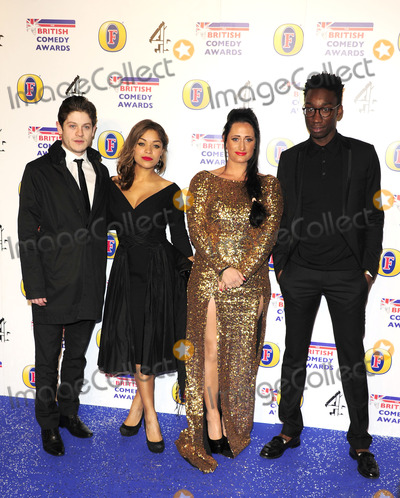 Nathan Stewart-Jarrett Photo - London UK Iwan Rheon Antonia Thomas Lauren Socha and Nathan Stewart-Jarrett     at the British Comedy Awards at Fountain Studios Wembley London  16th December 2011 SYDLandmark Media